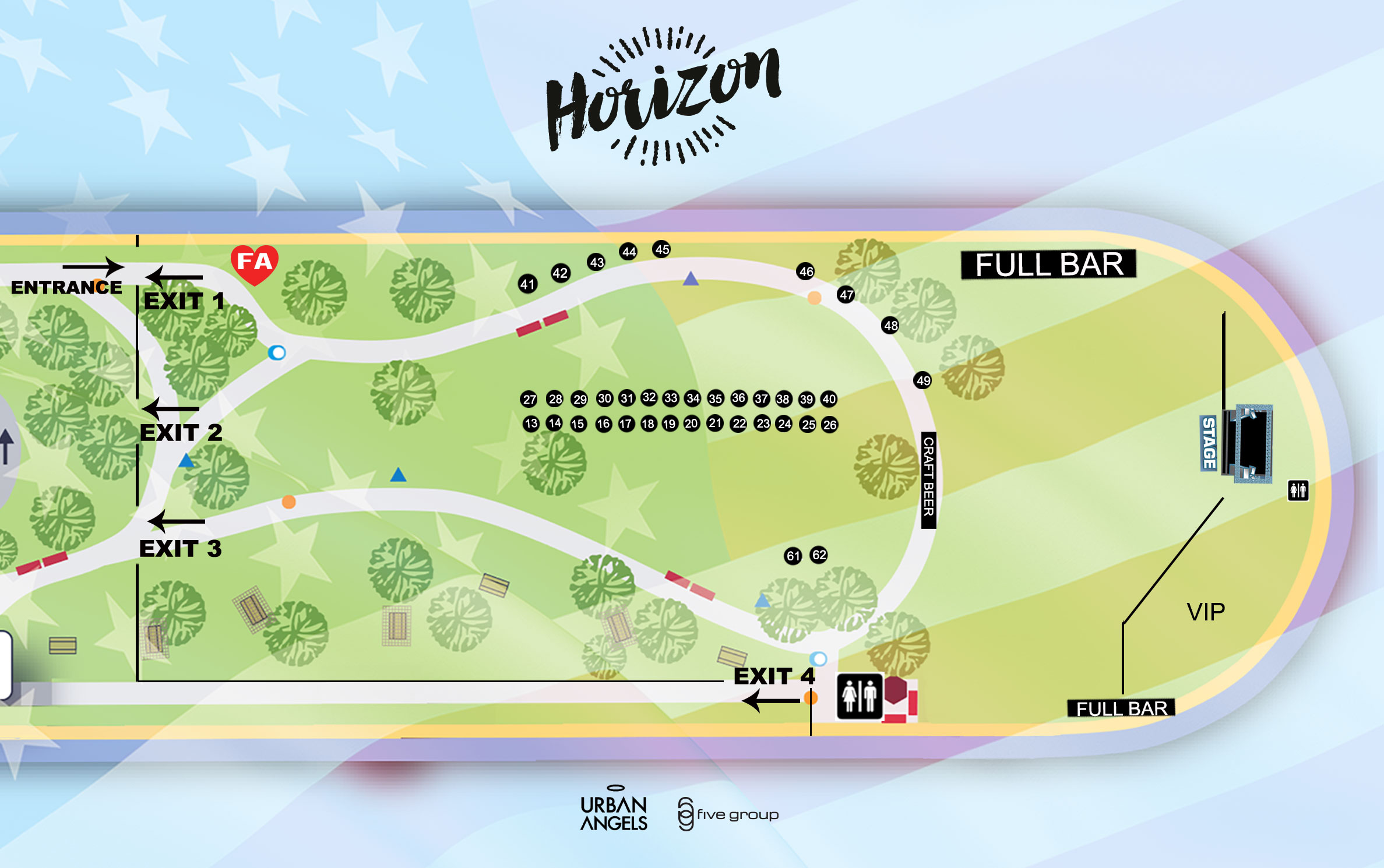 Venue Map - Horizon Music Festival - San go | July 6th, 2019 on paradise village map, lakeview village map, phoenix village map, sand village map, broadway at the beach map, seaport district san diego, mission trails regional park map, newton village map, manhattan village map, road village map, mystic village map, forest village map, torrey pines state reserve map, desert village map, north county fair map, seaside village map, marina village map, east village map, legacy village map, american village map,